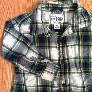 Children's Place • Plaid Button Down Shirt